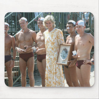 Princess Diana Bondi Beach Australia 1988 Mouse Pad