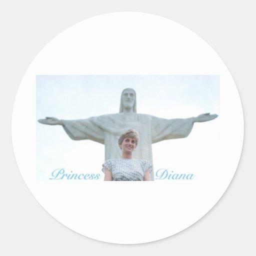 Princess Diana Brazil Round Sticker