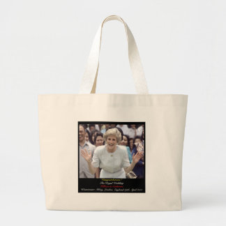 Princess Diana celebrates The Royal Wedding Jumbo Tote Bag