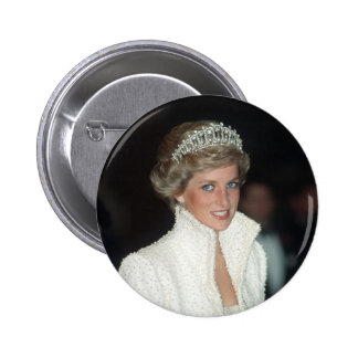 Princess Diana Hong Kong 1989 6 Cm Round Badge