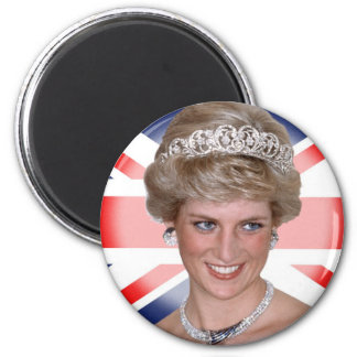 Princess Diana Union Jack 6 Cm Round Magnet