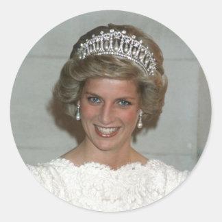 Princess Diana Washington 1985 Classic Round Sticker