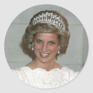 Princess Diana Washington 1985 Round Sticker