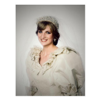 Princess Diana wedding portrait Postcard