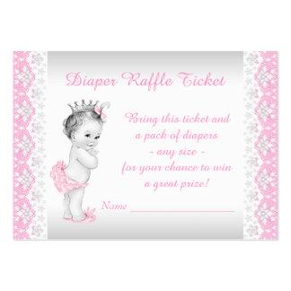 Princess Diaper Raffle Ticket Business Card Templates