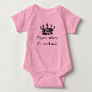 Princess' don't cry baby bodysuit