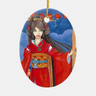 Princess Dragon Custom Geisha Ornament