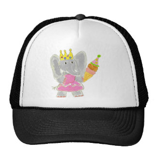 Princess Elephant Birthday Ice Cream Cap