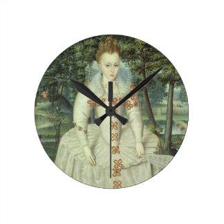 Princess Elizabeth (1596-1662) 1603 (oil on canvas Round Clock