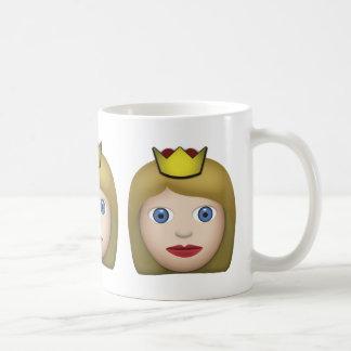 Princess Emoji Basic White Mug