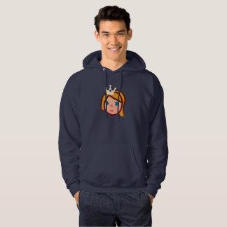 princess emoji mens hooded hoodie sweatshirt