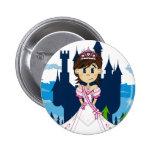 Princess & Enchanted Castle Magnet Button