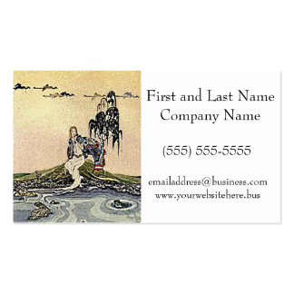 Princess Fairy by the River Illustration Pack Of Standard Business Cards