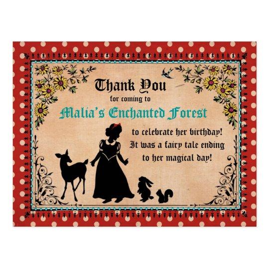 Princess Fairy Tale Thank You Postcard