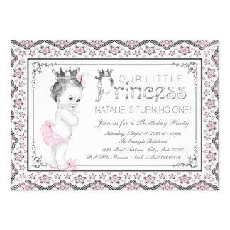 Princess First Birthday Party 11 Cm X 16 Cm Invitation Card