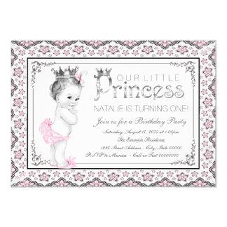 Princess First Birthday Party 13 Cm X 18 Cm Invitation Card