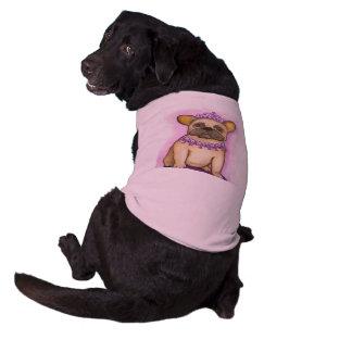 Princess French Bulldog tee shirt for dogs Sleeveless Dog Shirt