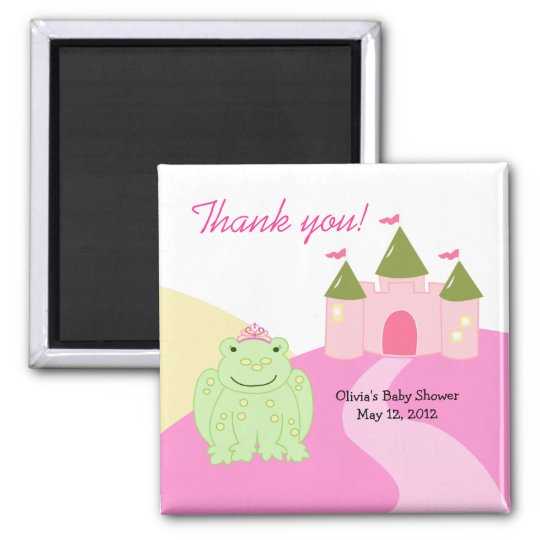 Princess Frog Castle Baby Shower Favour Magnet