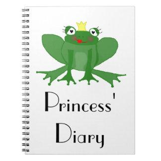 Princess Frog Diary - Notepad Notebook