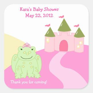 Princess Frog Fairytale SQUARE Favor Sticker