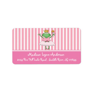 Princess Frog Return Address Labels. Label