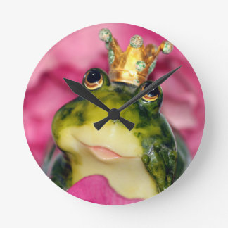 Princess Frog Round Clock