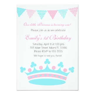 Princess Girl Birthday Party Invitation