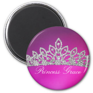 Princess Grace - Customized 6 Cm Round Magnet