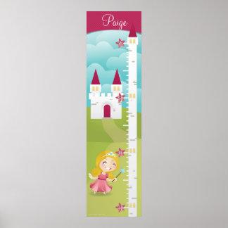 Princess Growth Chart Poster