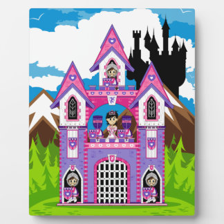 Princess & Heart Knights Castle Scene Plaque
