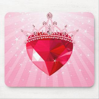 Princess heart mouse pad