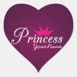 Princess Heart Stickers