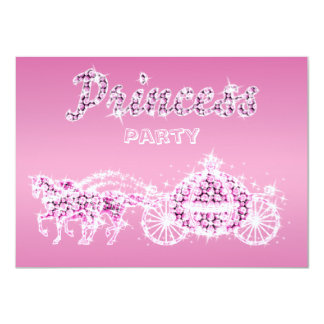 Princess Horses & Carriage Birthday Party 11 Cm X 16 Cm Invitation Card