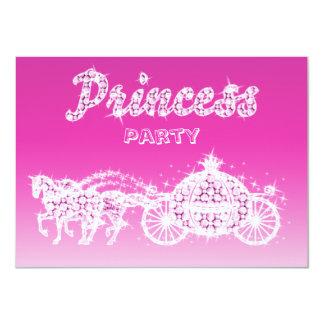 Princess Horses & Carriage Birthday Party 11 Cm X 16 Cm Invitation Card