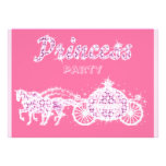Princess Horses & Carriage Birthday Party Custom Announcements