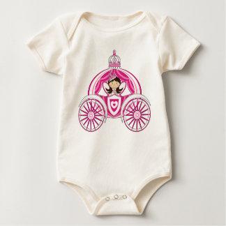 Princess in Royal Carriage Babygro Baby Bodysuit