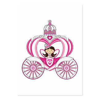Princess in Royal Carriage Bookmark Business Card Template