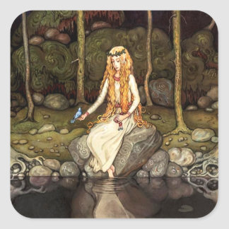 Princess in the Forest Square Sticker