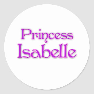 Princess Isabelle Round Sticker
