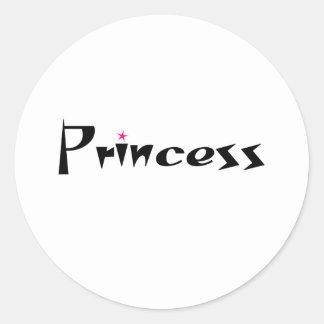 Princess Item Round Sticker