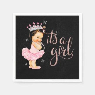 Princess It's a Girl Baby Shower Napkin Disposable Serviette