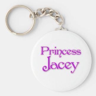 Princess Jacey Basic Round Button Key Ring