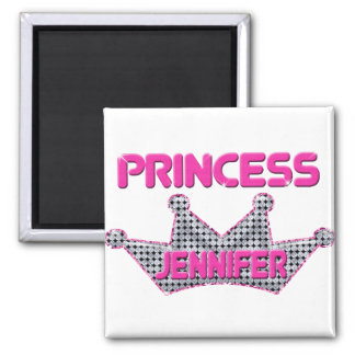 Princess Jennifer Square Magnet