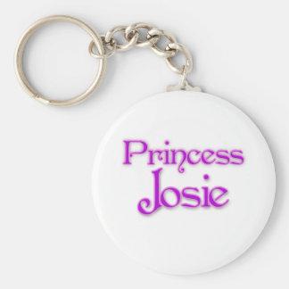 Princess Josie Basic Round Button Key Ring