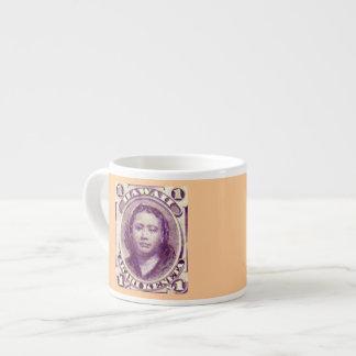 Princess Kamamalu Kingdom of Hawaii Stamp Espresso Mug