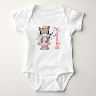 Princess Kitty 1st Birthday Baby Bodysuit