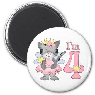 Princess Kitty 4th Birthday Fridge Magnet