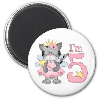 Princess Kitty 5th Birthday 6 Cm Round Magnet