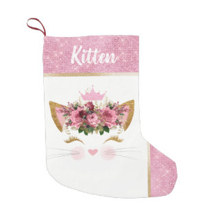 Princess Kitty Custom Christmas Stocking