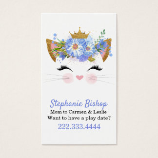 Princess Kitty Mummy Play Date Card